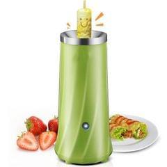 Automatic Multifunctional Egg Roll Maker Electric Egg Boiler Omelette Machine Breakfast Egg Tool (Green)
