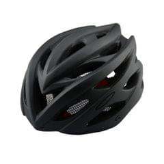 Outdoor Sports Mountainbiking Unibody Protective Helmet with LED Light, Suitable Head Circumference: 55 - 61 cm (Black)