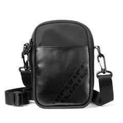 WEIXIER 8642 Men Outdoor Casual Leather Crossbody Bag Waterproof Waist Bag (Black)