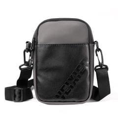 WEIXIER 8642 Men Outdoor Casual Leather Crossbody Bag Waterproof Waist Bag (Grey)