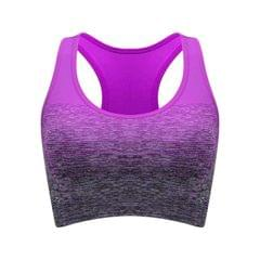 High Stretch Breathable Fitness Women Padded Sports Bra, Size:S (Violet)