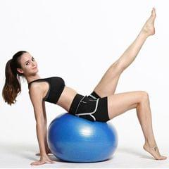 Thickening Explosion-proof Big Yoga Ball Sport Fitness Ball Environmental Pregnant Yoga Ball, Diameter: 65cm (Blue)