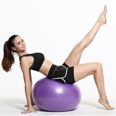 Thickening Explosion-proof Big Yoga Ball Sport Fitness Ball Environmental Pregnant Yoga Ball, Diameter: 65cm (Purple)