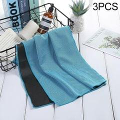 3 PCS Absorbent Polyester Quick-drying Breathable Cold-skinned Fitness Sports Portable Towel (Lake Blue)