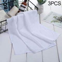 3 PCS Absorbent Polyester Quick-drying Breathable Cold-skinned Fitness Sports Portable Towel (White)