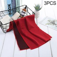 3 PCS Absorbent Polyester Quick-drying Breathable Cold-skinned Fitness Sports Portable Towel (Red)
