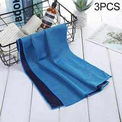 3 PCS Absorbent Polyester Quick-drying Breathable Cold-skinned Fitness Sports Portable Towel (Light Blue)