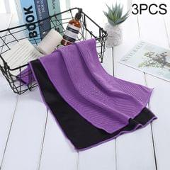3 PCS Absorbent Polyester Quick-drying Breathable Cold-skinned Fitness Sports Portable Towel (Purple)