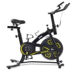 Indoor Fitness Bike, Home Exercise Flywheel, Spinning Bicycle With Adjustable Handle, Seat And Resistance (Yellow)