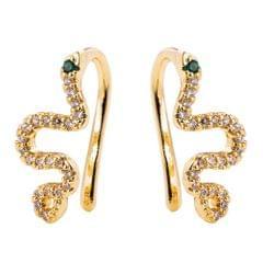 Creative Snake Earrings Exaggerated Gold Earrings
