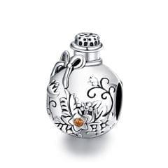 S925 Sterling Silver Wishing Bottle Beads DIY Bracelet Necklace Accessories