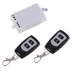 AC 220V 1CH Wireless Remote Control Receiver + 2 Buttons Waterproof Remote Control RF Wireless Transceiver