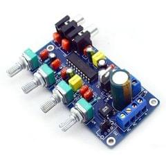 DC 12V LM1036n LM1036 HiFi Stereo Audio Amplifier Bass / Treble / Balance / Volume Control Board
