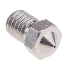 0.4mm Extruder Nozzles Stainless Steel Thread M6 Nickel-Plated Nickel Spray