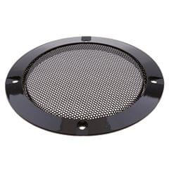 4 Inch Speaker Grills Cover Case with 4 pcs Screws for Speaker Mounting Home Audio DIY - 124mm Outer Diameter Black