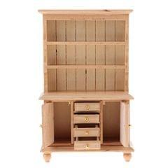 Retro 1/12 Wood Bookshelf Cupboard Dollhouse Living Room Kitchen Miniature Display Decor Accessories