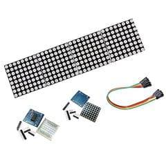 4 Pieces MAX7219 Dot Matrix LED Display Module Arduino DIY Raspberry Pi Kit with 5P DuPont Cable