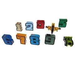 Pack of 10 Numbers Armour Team Transforming Robot Toy Kids Party Bag Fillers - 0-9