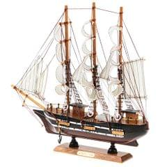 Retro Handmade Wooden Sailboat Sailing Boat Model Ornament for Home Office Desk Decoration Display Birthady Christmas Gift #F