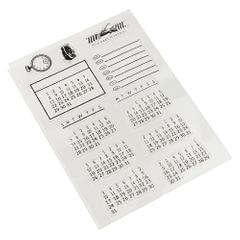 Silicone Clear Stamp Calendar Transparent Seal DIY Diary Scrapbooking Album Note