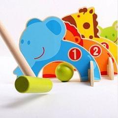 Wooden Garden Croquet Set Animal Gate Ball Family Fun Toys Kids Play Gift
