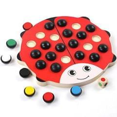 Kids Wooden Beetle Memory Chess Memory Board Game Travel Game Family Fun Toy