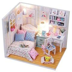DIY Handcraft Miniature Project Wooden Dolls House with Lights - Adalelle's Room