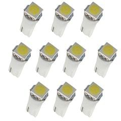 10pcs T5 5050 LED Car Interior Dash/Meter/Reading Door Step Map Light Lamps
