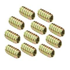Pack of 10Pcs Wood Insert Interface Screws Threads Bolts Nuts Fixing Furniture Mounting Fasteners M8*18