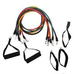 11Pcs Resistance Bands Tube Set for Fitness Exercise Yoga Pilates Workout Strength Training