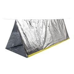 Portable Folding Emergency Camping Shelter Tent Outdoor Survival Camping - 2 Person Mylar Thermal Shelter