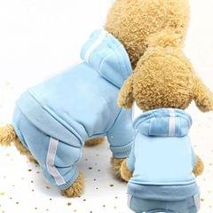 2 PCS Pet Dog Clothes For Dogs Overalls Pet Jumpsuit Puppy Cat Clothing For Dog Coat Thick Pets Dogs Clothing, Size:XS (Sky Blue)