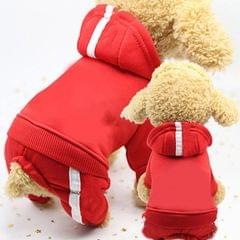 2 PCS Pet Dog Clothes For Dogs Overalls Pet Jumpsuit Puppy Cat Clothing For Dog Coat Thick Pets Dogs Clothing, Size:XS (Red)