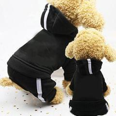 2 PCS Pet Dog Clothes For Dogs Overalls Pet Jumpsuit Puppy Cat Clothing For Dog Coat Thick Pets Dogs Clothing, Size:XS (Black)