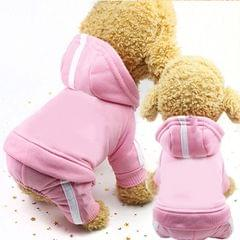 2 PCS Pet Dog Clothes For Dogs Overalls Pet Jumpsuit Puppy Cat Clothing For Dog Coat Thick Pets Dogs Clothing, Size:XS (Pink)