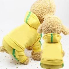 2 PCS Pet Dog Clothes For Dogs Overalls Pet Jumpsuit Puppy Cat Clothing For Dog Coat Thick Pets Dogs Clothing, Size:M (Yellow)
