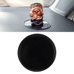 Car Auto Round Soft Rubber Dashboard Anti-slip Pad Mat for Phone / GPS/ MP4/ MP3, Diameter: 8cm (Black)