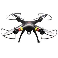 SYMA X8W 4-Channel 360 Degree Flips 2.4GHz Radio Control Mini Quadcopter with 6-axis Gyro / FPV Camera / WiFi (Black)