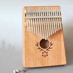 17-tone Kalimba Portable Thumb Piano, Style:Mahogany-Six-Pointed Star