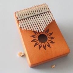 17-tone Kalimba Portable Thumb Piano, Style:Mahogany-Sun God