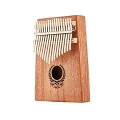 Garland Carimba 17 Notes Thumb Piano Beginner Finger Piano Musical Instrument (Wood Color)