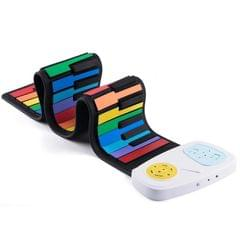 49-key Hand Roll Silicone Children Electronic Piano (Colorful)