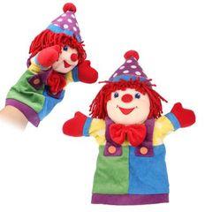 Clown Hand Puppet Doll