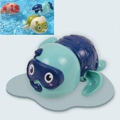6 PCS Baby Bath Toys Playing in the Water Little Turtle Swimming Toys (Blue)