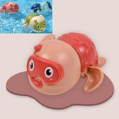 6 PCS Baby Bath Toys Playing in the Water Little Turtle Swimming Toys (Red)