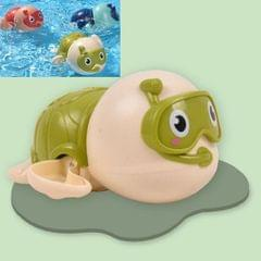 6 PCS Baby Bath Toys Playing in the Water Little Turtle Swimming Toys (Green)