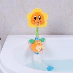 Baby Shower Play Toy Sunflower Water Spray (Yellow)