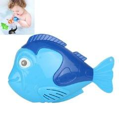 10 PCS Baby Bath Toys Playing in Water Swimming Clockwork Toys (Small Blue Fish)