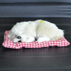 Simulation Will Call the Sleeping Dog Ornaments Toy Creative Doll Children Gift (Creamy-white)