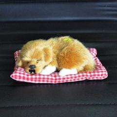 Simulation Will Call the Sleeping Dog Ornaments Toy Creative Doll Children Gift (Lemon Yellow)